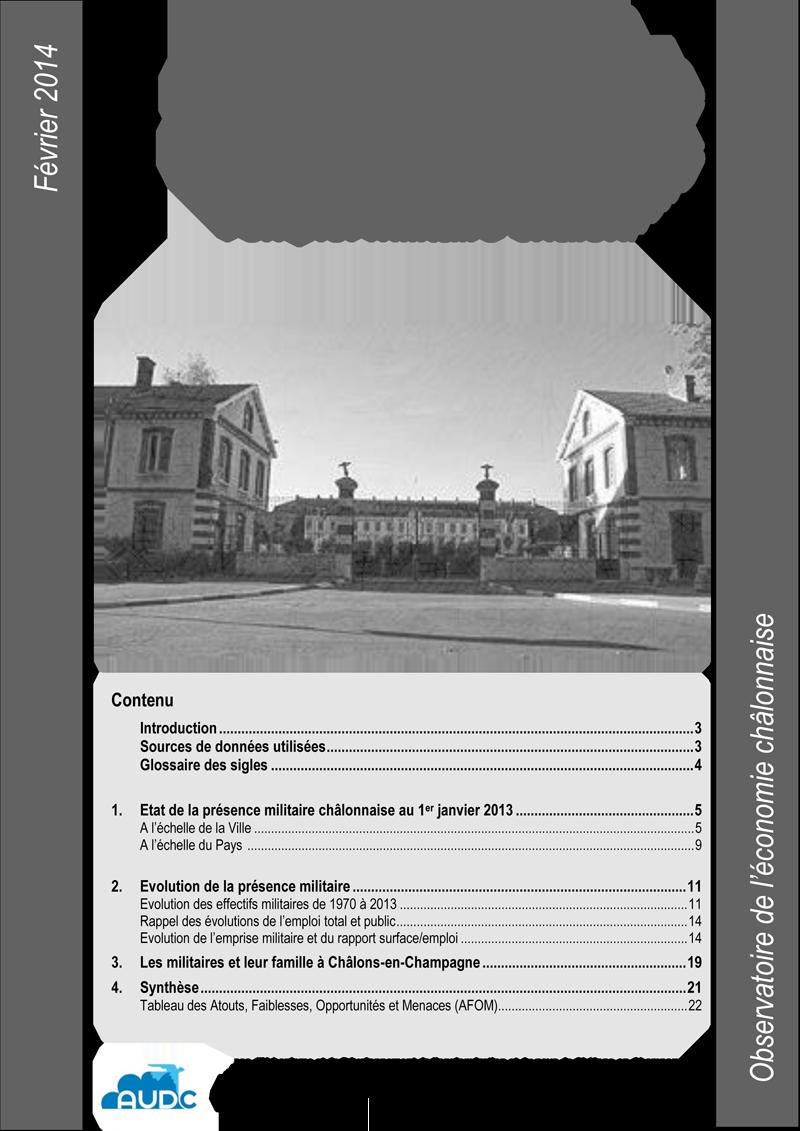 localisation et évolution de lploi militaire chalonnais 2013 1